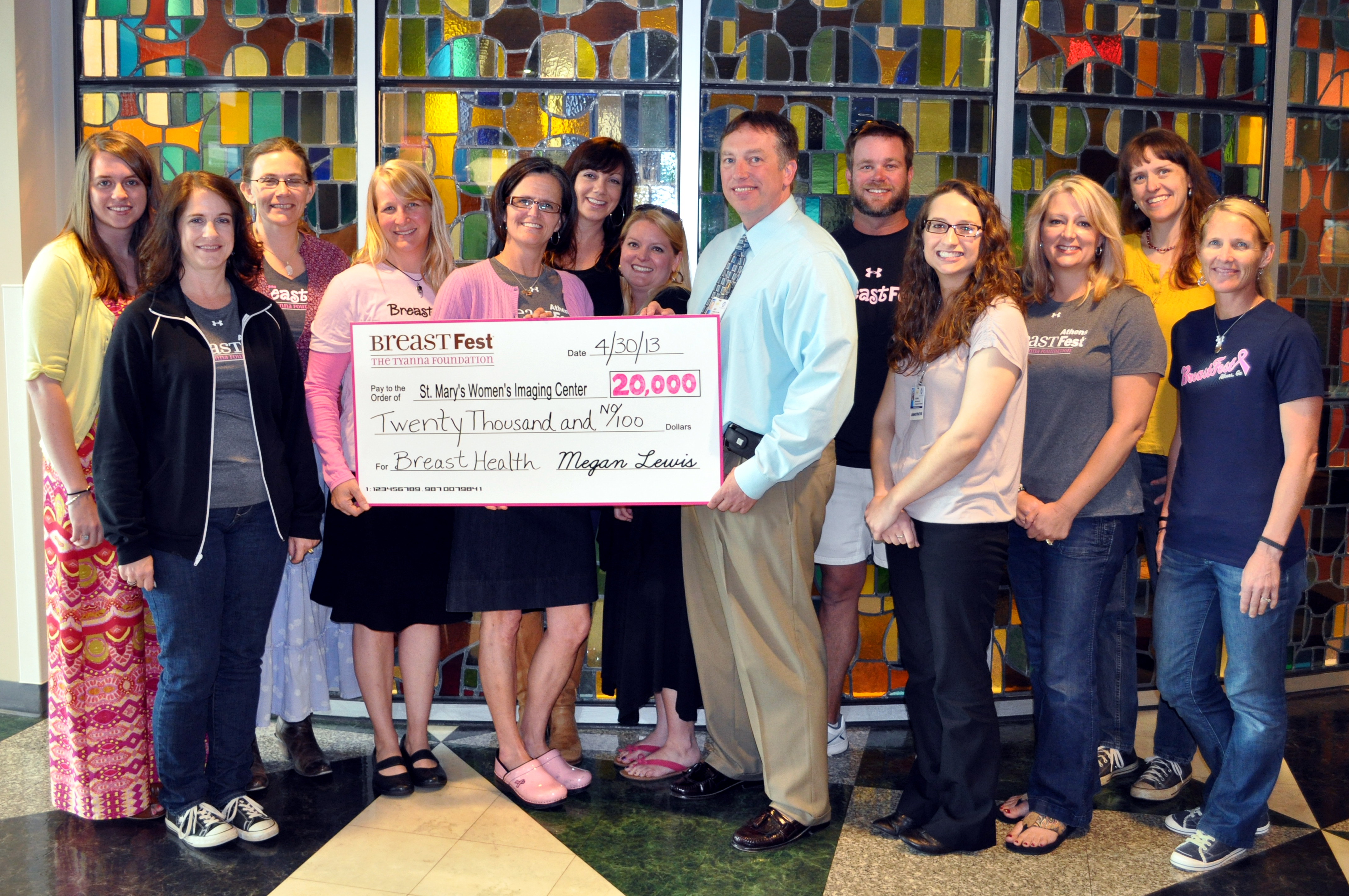 Breastfest 2013 check presentation crop