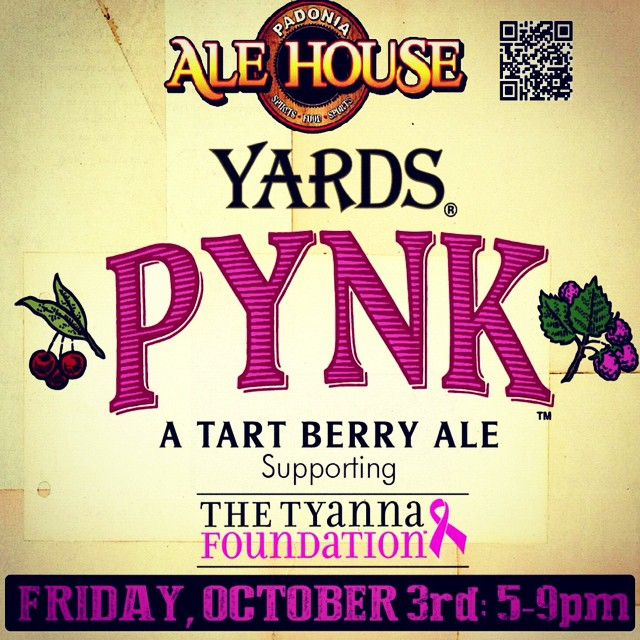 Join us at Padonia Ale House Friday, October 3rd for $4 yards #pynk draft, free taco happy hour, live music, and amazing raffle prizes including 2 skybox seats to the @ravens vs Cleveland Browns on December 28th! (Includes field passes and hospitality) @yardsbrewing  #events #ravens #SaveTheGirls