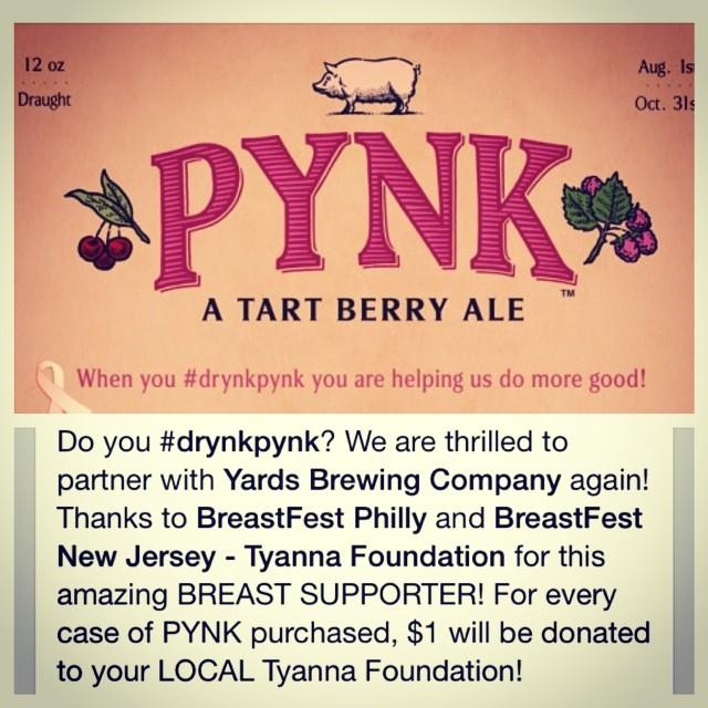 Do you #drynkpynk !? Huge thanks to @yardsbrew @breastfestphila and #BreastFestNewJersey