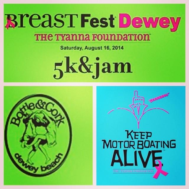 It's not too late to join us tomorrow for the #inaugural #BreastFest #5k ! http://www.races2run.com/events/breast-fest-5k/  #SaveTheGirls #keepmotorboatingalive #boobs #awareness #deweybeach #bottleandcork
