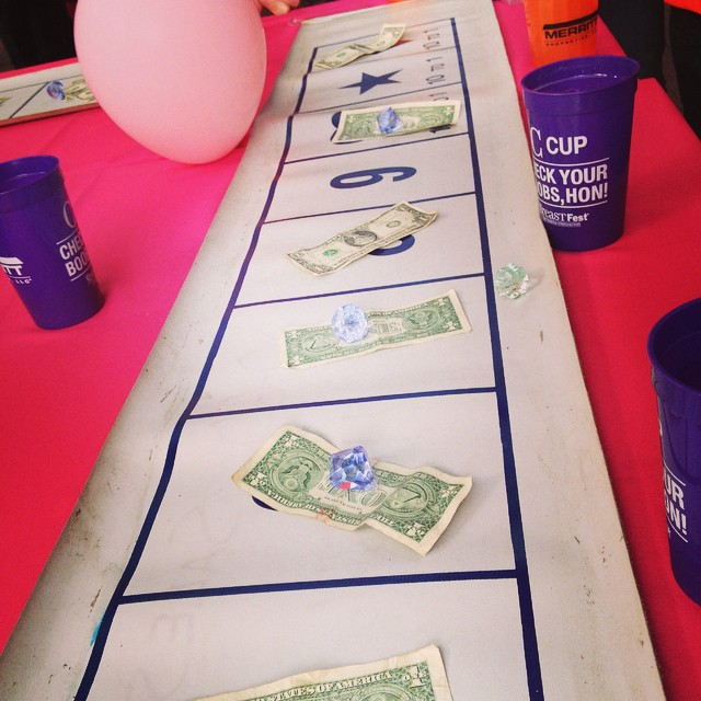 Errrbody winning at the money wheel today! #BreastFest #SaveTheGirls #winning