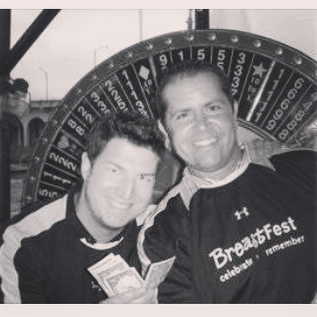 #tbt BreastFest Baltimore 2005 money wheel classic! Of course the money meal will be back this year with even more games! Get your tickets today! Tyanna.org/events #events #breastfest #winning