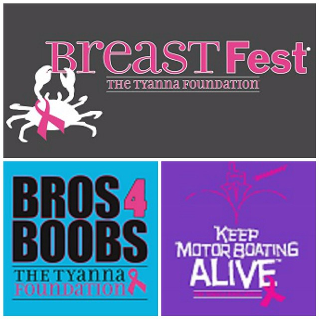 Check out some of the new shirt designs that will be at BreastFest tomorrow! There's still time to get your tix www.tyanna.org/events #breastfest #savethegirls