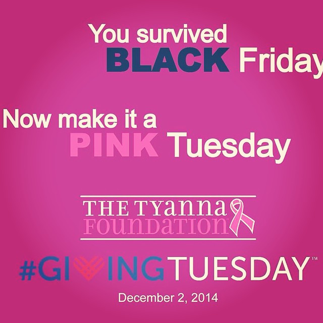 Make giving Tuesday a PINK Tuesday! www.tyanna.org/donate  #GivingTuesday #SaveTheGirls