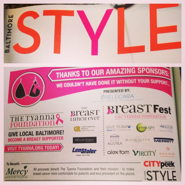 We have the most amazing supporters! Love you all! ? #SaveTheGirls #BreastSupporter #StyleMagazine #Baltimore
