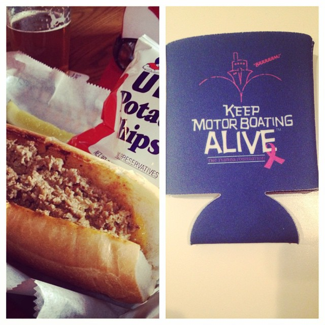 Can't wait to get my cheesesteak, a cold beer and Tyanna koozie tonight @magerkspubfh for BOOBY BASH!! 7-10pm join us upstairs for food and drink specials, 50/50 raffle and prizes! #SaveTheGirls #cheesesteaks #events #koozie #fedhill
