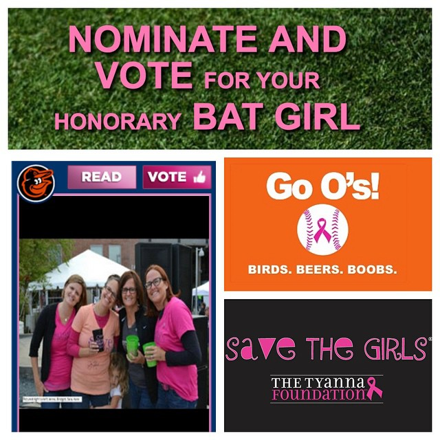 Please vote for us for Honorary Bat Girl on mlb.com! Thanks to all our supporters and volunteers! We couldn't help Save The Girls without you ? HAPPY NATIONAL VOLUNTEER APPRECIATION WEEK! http://mlb.mlb.com/honorarybatgirl/2015/index.jsp?tcid=fb_honorarybatgirl_2015 #SaveTheGirls @baltimoreorioles #batgirl